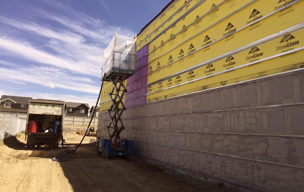 commercial spray foam insulation calgary - building Wall